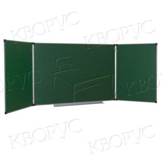 Школьная доска ДК 32 зеленая трехсекционная